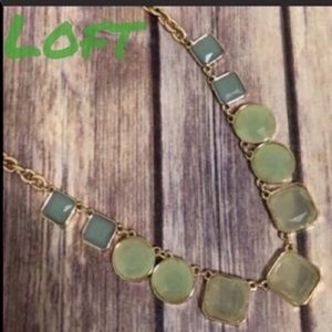 Loft necklace with blue and green stones